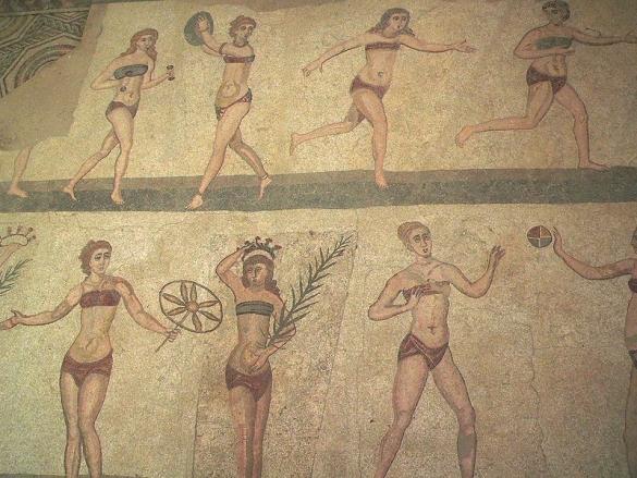 Römische Frauen tragen Bikini